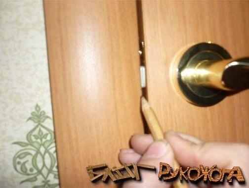 Как вставить замок в межкомнатную дверь