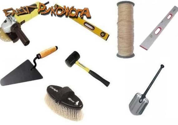 инструмент и материалы для укладки тротуарной плитки