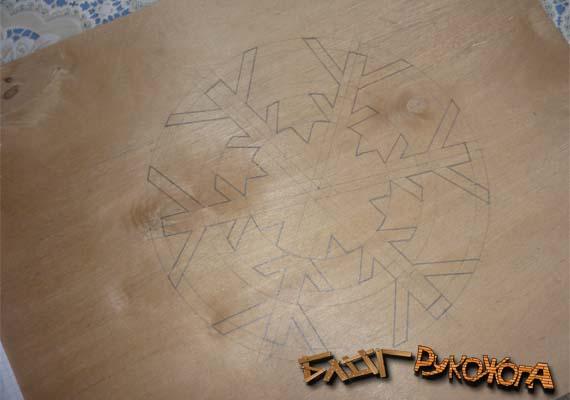 чертеж снежинки из фанеры