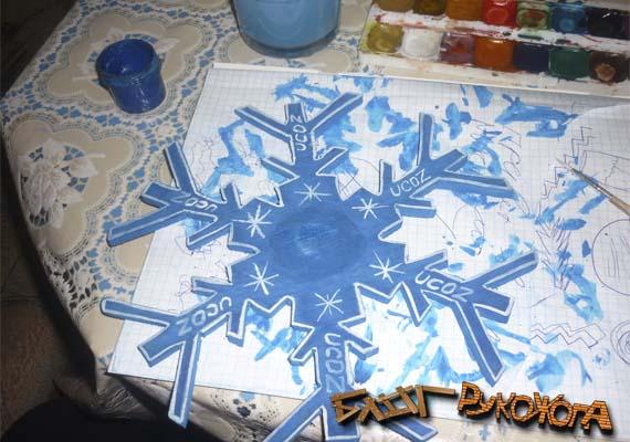 снежинка из фанеры своими руками